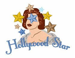 Hollywood Star embroidery design