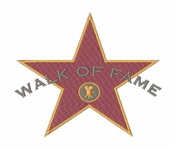 Walk of Fame embroidery design