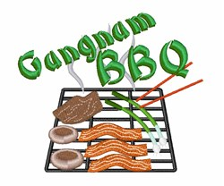 Gangnam BBQ embroidery design