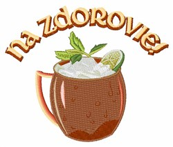 Na Zdorovie! embroidery design