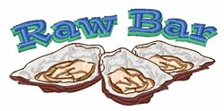 Raw Bar embroidery design