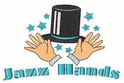 Jazz Hands embroidery design