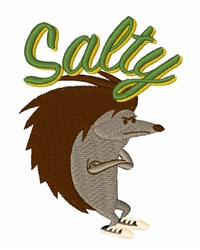Salty Porcupine embroidery design