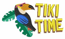 Tiki Time embroidery design