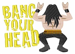 Bang Your Head embroidery design