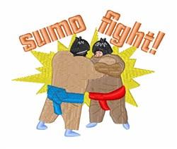 Sumo Fight embroidery design
