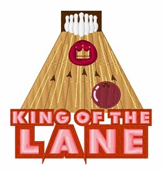 King Of Lane embroidery design