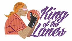 King Of Lanes embroidery design