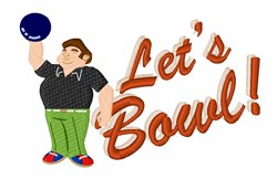 Lets Bowl! embroidery design