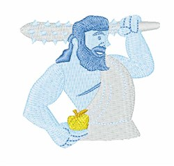 Hercules embroidery design
