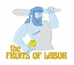 Fruits of Labor embroidery design