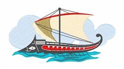 Argonauts Boat embroidery design