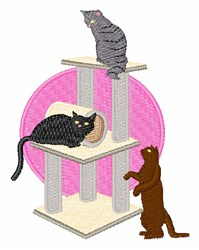 Cat Tower embroidery design