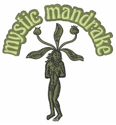 Mystic Mandrake embroidery design