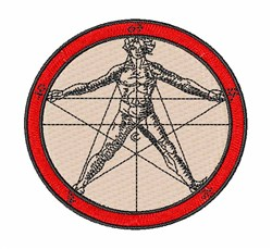 Alchemical Pentacle embroidery design