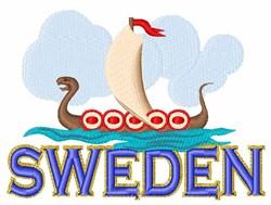 Sweden embroidery design