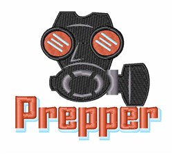 Gas Mask Prepper embroidery design