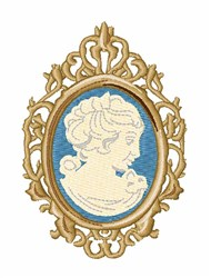 Cameo Lady embroidery design