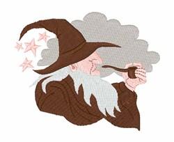Smoking Wizard embroidery design