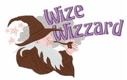 Wize Wizzard embroidery design