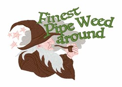 Pipe Weed embroidery design