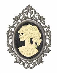 Cameo Skull embroidery design