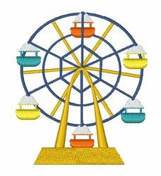 Ferris Wheel embroidery design