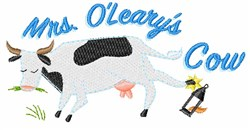 Mrs OLearys Cow embroidery design