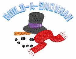 Build-A-Snowman embroidery design