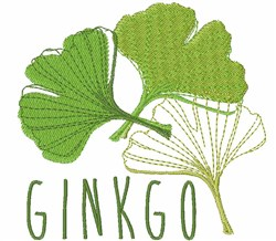 Ginkgo embroidery design