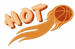 Hot Basketball embroidery design