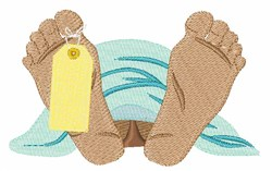 Toe Tag embroidery design