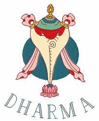 Dharma embroidery design