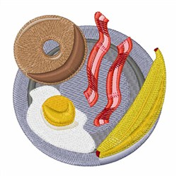 Breakfast Plate embroidery design