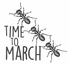 Ants On The March embroidery design