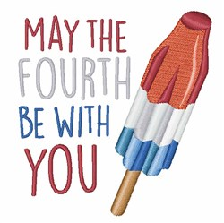 4th of July Rocket Pop embroidery design