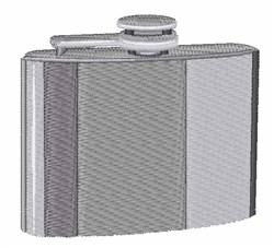 Silver Flask embroidery design