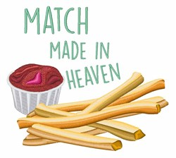 Match Made In Heaven embroidery design