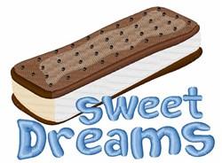 Sweet Ice Cream Sandwich embroidery design