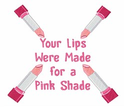 Pink Lipstick embroidery design