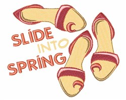 Slide Into Spring Shoes embroidery design