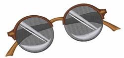 Realistic Sunglasses embroidery design