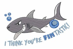 Sharks Are Fintastic! embroidery design