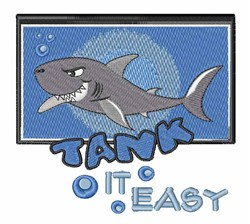 Sharks Take It Easy! embroidery design