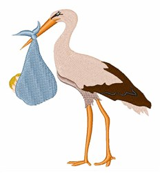 Stork Delivery! embroidery design