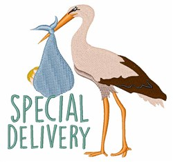 Special Delivery Stork embroidery design