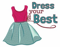 Dress Your Best embroidery design