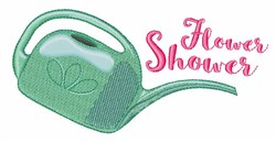 Flower Shower Watering Can embroidery design