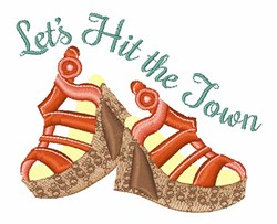 Hit The Town Shoes embroidery design
