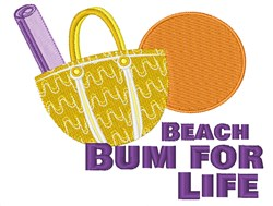 Beach Bum For Life embroidery design